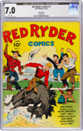 Golden Age (1938-1955):Western, Red Ryder Comics #7 Rockford Pedigree (Dell, 1942) CGC FN/VF 7.0 White pages....