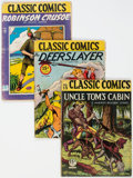 Golden Age (1938-1955):Classics Illustrated, Classic Comics Group of 8 (Gilberton, 1944-46) Condition: Average GD+.... (Total: 8 Comic Books)
