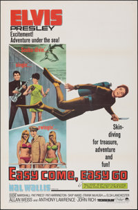 """Easy Come, Easy Go (Paramount, 1967). Flat Folded, Very Fine. One Sheet (27"""" X 41""""). Elvis Presley"""