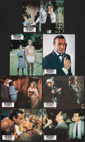 """Movie Posters:James Bond, From Russia with Love (United Artists, R-1970s). Fine/Very Fine. French Lobby Cards (7) (8.5"""" X 10.75""""). James Bond.. ... (Total: 7 Items)"""