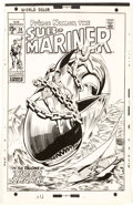 Original Comic Art:Miscellaneous, John Buscema and Johnny Craig Sub-Mariner #24 Cover Photostat and Preliminary Sketches Production Art (Marvel, 197...