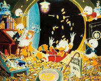 Carl Barks Time Out For Fun Signed Limited Edition Miniature Lithograph Print #60/100 and Pat Block Signed Comic (... (T...