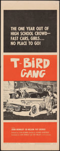 "Movie Posters:Exploitation, T-Bird Gang (Filmgroup, 1959). Rolled, Fine/Very Fine. Insert (14"" X 36""). Exploitation.. ..."