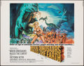 """Movie Posters:Fantasy, When Dinosaurs Ruled the Earth (Warner Bros., 1970). Rolled, Very Fine+. Half Sheet (22"""" X 28""""). Fantasy.. ..."""