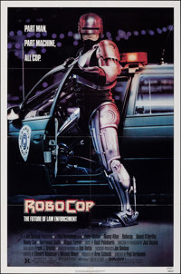 "RoboCop (Orion, 1987). Folded, Very Fine-. One Sheet (27"" X 41""). Mike Bryan Artwork. Action"
