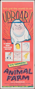 """Movie Posters:Animation, Animal Farm (DCA, 1955). Rolled, Fine/Very Fine. Insert (14"""" X 36""""). Animation.. ..."""
