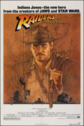 "Movie Posters:Adventure, Raiders of the Lost Ark (Paramount, 1981). Folded, Fine/Very Fine. One Sheet (27"" X 41"") Richard Amsel Artwork. Adventure.. ..."