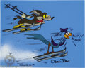 "Animation Art:Miscellaneous, Warner Brothers Productions -- ""Wile E. Coyote and Road RunnerSkiing"" Hand Painted Limited Edition Cel. (1989). Chuck Jones..."