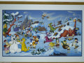 "Animation Art:Miscellaneous, Hanna Barbera Productions -- ""Bedrock Wonderland"" Hand PaintedLimited Edition Cel. (1994). Fred Flintstone and all his frie..."