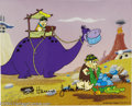"""Animation Art:Miscellaneous, Hanna Barbera Productions -- """"Rock Stars"""" Hand Painted LimitedEdition Cel. (1989). Fred and Barney are shown at work in the..."""