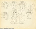 "Animation Art:Miscellaneous, Walt Disney Studios -- ""Society Dog Show"" Original Pencil ModelSheet. (1939). Pluto encounters all sorts of dogs (and their..."