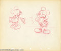 "Animation Art:Miscellaneous, Walt Disney Studios -- ""Mickey Mouse"" Original Pencil Model Sheet.(1939). Original design drawings of Mickey Mouse are a pr..."