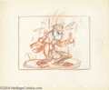 "Animation Art:Miscellaneous, Walt Disney Studios -- ""Pinocchio"" Original Story Board Sketch.(1940). Jiminy Cricket was redesigned several times during t..."