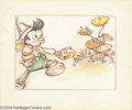 "Animation Art:Miscellaneous, Walt Disney Studios -- ""Pinocchio"" Original Story Board Sketch.(1940). In this amazing set of five storyboards, Pinocchio d...(Total: 5 Item)"
