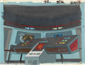 "Animation Art:Miscellaneous, Filmation Studios -- ""Star Trek"" Original Watercolor Background.(1974). This unusual original watercolor background paintin..."