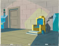 Animation Art:Miscellaneous, Filmation Studios -- Original Watercolor Backgrounds. (1970s). Thislot of two interior laboratory scenes by Curtis Perkins ... (Total:2 Item)