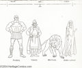 "Animation Art:Miscellaneous, Filmation Studios -- ""Tarzan, King of the Jungle"" Xerox OutlineColor Model Cel. (1976). This xerox ink outline on a cel sho..."