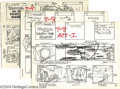 "Animation Art:Miscellaneous, Filmation Studios -- ""Tarzan, King of the Jungle"" Xerox StoryboardLayouts. (1976). This lot is comprised of four one act co..."