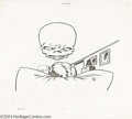 """Animation Art:Miscellaneous, Gantray-Lawrence Studios -- """"The Marvel Superheroes Show"""" Xerox Outline On Cel. (1966). A floating Red Skull head from Capta... (Total: 2 Original Art Item)"""