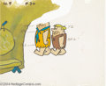 "Animation Art:Miscellaneous, Hanna Barbera Productions -- ""The Flintstones"" Original HandPainted Color Model Cel. (1960). This color model cel of Fred a..."