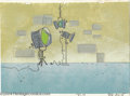 Animation Art:Miscellaneous, Hanna Barbera Productions -- Original Watercolor Background.(1960). This Curtis Perkins original watercolor painting was cr...