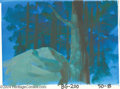 Animation Art:Miscellaneous, Hanna Barbera Productions -- Original Watercolor Background.(1960s). This hand painted nighttime forest production backgrou...