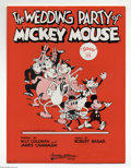 Memorabilia:Comic-Related, The Wedding Party of Mickey Mouse Sheet Music (Stasny Music,1936). This file copy of The Wedding Party of Mickey Mouse i...