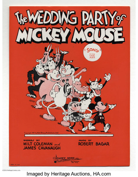 The Wedding Party of Mickey Mouse Sheet Music (Stasny | Lot #2213 ...