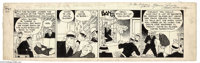 Chester Gould - Dick Tracy Daily Comic Strip Original Art, dated 9-22-32 (News Syndicate, 1932). This early Dick Tracy d...