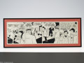 """Memorabilia:Comic-Related, Chester Gould - Dick Tracy """"Flattop"""" Daily Comic Strip Original Art, dated 3-20-44 (Chicago Tribune, 1944). This incredible ..."""