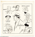 Memorabilia:Comic-Related, Chester Gould - Dick Tracy and Rogues Gallery Magazine Original Art (1956). Looking for a definitive illustration of Dick Tr...