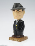 """Memorabilia:Comic-Related, Dick Tracy 7"""" Nodder Doll With Ceramic Head (Manufacturer Unknown, 1960s). This phenomenal, ultra-rare bobbing-head Dick Tra..."""