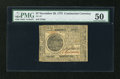 Colonial Notes:Continental Congress Issues, Continental Currency November 29, 1775 $7 PMG About Uncirculated50....