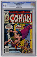 Bronze Age (1970-1979):Miscellaneous, Conan the Barbarian #76 (Marvel, 1977) CGC NM/MT 9.8 Off-white towhite pages....