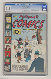 Popular Comics #1 (Dell, 1936) CGC VG- 3.5 Off-white to white pages. There's no more desirable comic for the Dick Tracy...