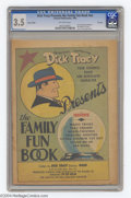 Memorabilia:Comic-Related, Dick Tracy Presents The Family Fun Book Giveaway #nn File Copy (Fawcett, 1940) CGC VG- 3.5 Off-white pages. An interesting g...
