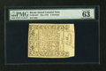 Colonial Notes:Rhode Island, Rhode Island May 1786 3s PMG Choice Uncirculated 63 EPQ....