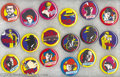 Memorabilia:Miscellaneous, Dick Tracy Movie Cartoon - Type Pinback Set of 18 (Buttons, Etc., 1990) Condition: Average MT. Characters and images from th...