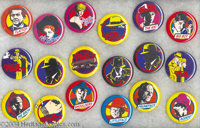 Dick Tracy Movie Cartoon - Type Pinback Set of 18 (Buttons, Etc., 1990) Condition: Average MT. Characters and images fro...