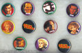 Memorabilia:Miscellaneous, Dick Tracy Movie Villains Photo Pinbacks Set of 10 (Buttons, Etc., 1990) Condition: Average MT. Offered here is a set of ten...