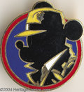 Memorabilia:Miscellaneous, Mickey Mouse as Dick Tracy [Mick Tracy] Cloisonne Pinback (Disney, 1990). In 1990, select Walt Disney staffers received one ...