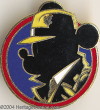 Mickey Mouse as Dick Tracy [Mick Tracy] Cloisonne Pinback (Disney, 1990). In 1990, select Walt Disney staffers received...
