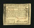 Colonial Notes:Rhode Island, Rhode Island July 2, 1780 $7 New....
