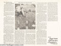 """Memorabilia:Comic-Related, Dick Tracy Rogues' Gallery Graveyard Promo (The Chicago Tribune, 1950s) Condition: NM. """"The World's Worst Rest in Woodstock ..."""