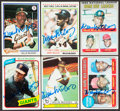 Autographs:Sports Cards, Signed 1969 - 1980 Topps Willie McCovey Card Collection (6...