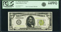 Fr. 1955-H $5 1934 Light Green Seal Federal Reserve Note. PCGS Very Choice New 64PPQ