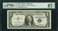 Low Serial 00000065 Fr. 1619 $1 1957 Silver Certificate. PMG Superb Gem Unc 67 EPQ
