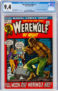 Werewolf by Night #1 (Marvel, 1972) CGC NM 9.4 White pages