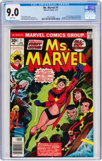 Ms. Marvel #1 (Marvel, 1977) CGC VF/NM 9.0 White pages