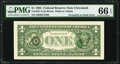 Error Notes:Third Printing on Reverse, Third Printing on Back Error Fr. 1921-D $1 1995 Federal Reserve Note. PMG Gem Uncirculated 66 EPQ.. ...